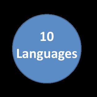 10+ Languages