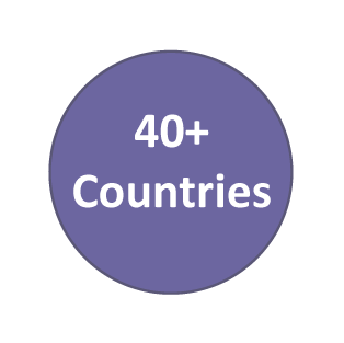 40+ Countries